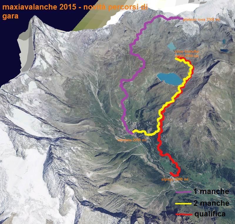 parcours maxiavalanche cervinia 2015
